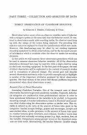 class observation essay template class observation essay