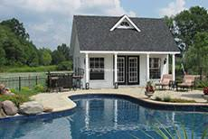Functional  Versatile  and Beautiful Amish Pool Houses   Amish MikeAmish Pool Houses and Structures