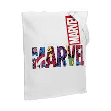 Холщовая <b>сумка Marvel Avengers</b>, белая (артикул 55523.60 ...