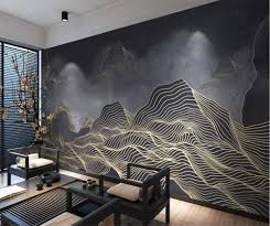 beibehang Custom wallpaper 3D <b>new Chinese abstract</b> lines mood ...