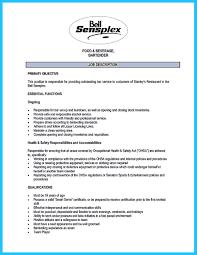 excellent ways to make great bartender resume template    bartender resume template no experience and entry level