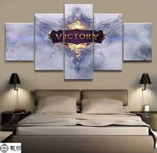 <b>5 Panel LOL League</b> of Legends Victory Game Canvas Printed ...