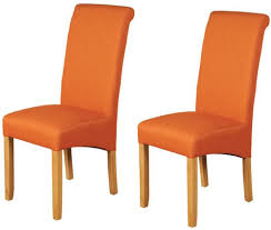 Orange Dining Room Chairs Royal Orange Dining Chair Pair