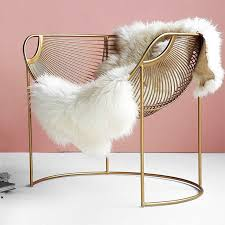 'Ilaria' Glam <b>Gold</b> Metal <b>Tub Chair</b> | <b>Gold</b> home decor, White sofa ...