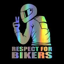 14x19 см Автомобильная наклейка s Respect for Bikers <b>наклейка</b> ...