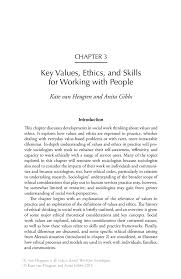 key values ethics and skills for working people springer inside