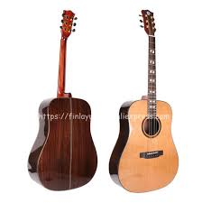 "<b>Finlay Full Solid Guitar</b>,<b>41</b>"" Acoustic Guitar With Pickup,Solid Cedar ..."