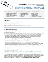 example of a medical assistant resume template example of a medical assistant resume