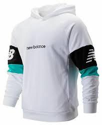 New Balance Men's <b>NB Athletics Classic</b> Hoodie White with Black ...