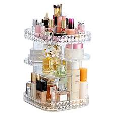 Makeup Organizer 360-Degree <b>Rotating</b> Cosmetic Storage <b>Box</b>, <b>DIY</b>