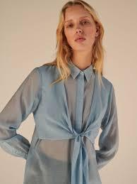 Рубашка из сетки с завязкой, RESERVED, YM063-05X