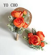 Online Shop YO CHO 4 Color Bride Bridesmaid <b>Hand Wrist Flower</b> ...