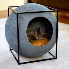meyou cat furniture sphere with metal frame chic cat furniture