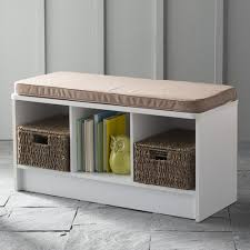 ClosetMaid 3-Cube <b>Entryway Storage</b> Bench, <b>White</b> - Walmart.com ...