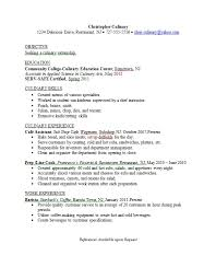 resume samples   career connoisseurculinary major resume example