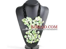 Marvelous Beautiful Black Crystal <b>Beads</b> Natural White <b>Pearl</b> Green ...