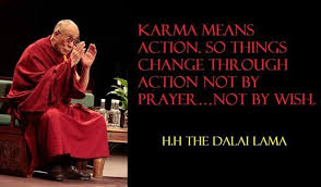 Karma | Dalai Lama | Quote | Health | Wellbeing | Balance ... via Relatably.com