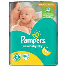 ᐅ <b>Pampers подгузники New</b> Baby-Dry 2 (3-6 кг) 94 шт. отзывы — 5 ...