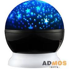 <b>Проектор звездного неба Stardust</b>, черный с белым оптом под ...
