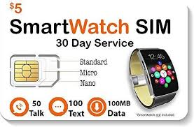 Amazon.com: $5 <b>Smart Watch SIM Card</b> for 2G 3G 4G LTE GSM ...
