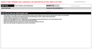 line cook job descriptions   tree trimmer line clearance
