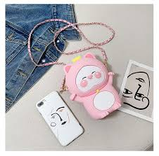 Cute <b>Universal Silicone Cell Phone</b> Bag Shoulder Pocket Wallet ...