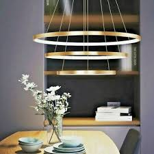 <b>luxury</b> italian <b>modern</b> led <b>gold black</b> ring light <b>chandelier</b> pendant ...