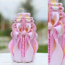Парафин розовый гравированный/<b>резной</b> декор <b>свечи</b> ...
