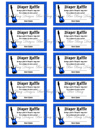 printable blue rock and roll guitar diaper raffle tickets bee printable blue rock and roll guitar diaper raffle tickets bee busy designs