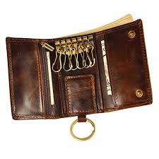 Amazon.com: Le'aokuu Mens <b>Genuine Leather Car Key</b> Case Loop ...