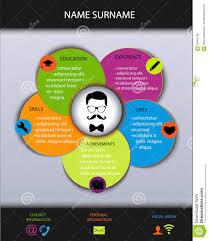 curriculum vitae resume modern creative design stock vector curriculum vitae resume modern creative design