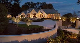 eliminating darkness on your property can make it more secure beautiful outdoor lighting