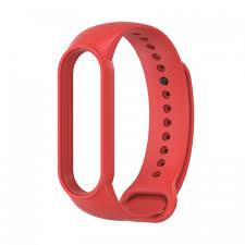 <b>Ремешок силиконовый для</b> Xiaomi Mi Band 5 красный купить в Ялте
