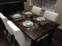 Custom Made Dining Room Furniture Handmade Reclaimed Wood Chevron Dining Table By Fama Creations Llc