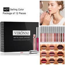 <b>Veronni 12</b> Pcs Lipstick <b>Matte</b> Anti Air Tahan Lama   Shopee Indonesia