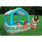 Надувной <b>детский бассейн INTEX Рыбки</b> 157х157х122 см ...