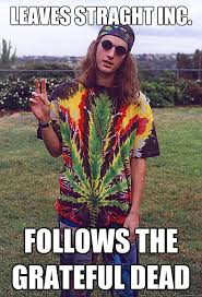 Leaves Straght inc. follows the grateful dead - Freshman Hippie ... via Relatably.com