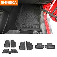shineka interior mouldings for ford f150 2015 carbon fiber car decoration cover stickers kit accessories