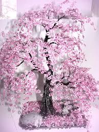 <b>Bonsai</b> Beaded Tree <b>Home Decor</b> - Sakura | Boncuklu çiçek, Yaratıcı ...