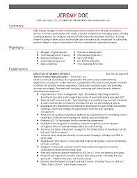 professional director of member services templates to showcase resume templates director of member services