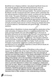buddhism sexual ethics essay  year  hsc   studies of religion  buddhism sexual ethics essay