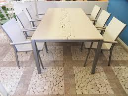 Tavolo Da Terrazzo In Legno : Tavolo in marmo da esterno u mobile cucina dispensa