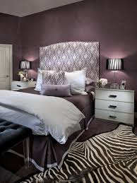 Contemporary Purple Bedroom With Zebra Print Rug HGTV  R