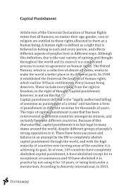 capital punishment essay   year  hsc   legal studies   thinkswapcapital punishment essay