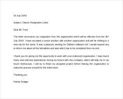 formal resignation letter      download free documents in word  pdfformal resignation letter in word