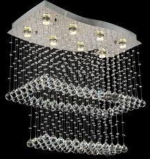 modern crystal led celling lights for living room villa staircase lamps hall foyer long stair lighting banner5 stair lighting
