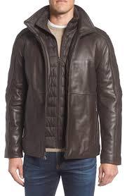 <b>Men's Leather</b> (<b>Genuine</b>) Coats & Jackets | Nordstrom