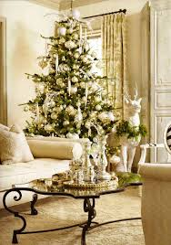 barn living room ideas decorate: glamorous pottery barn christmas living room decorating idea in white color nuance