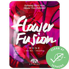 ShopUSAIndia <b>ORIGINS Flower Fusion Rose</b> Hydrating Sheet Mask ...