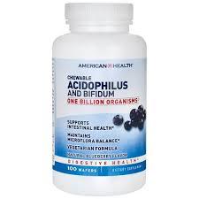 American Health <b>Acidophilus and Bifidum Chewable</b> Wafers 100ct ...